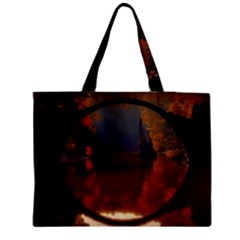 River Water Reflections Autumn Medium Tote Bag