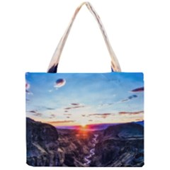 Iceland Landscape Mountains Stream Mini Tote Bag