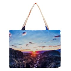 Iceland Landscape Mountains Stream Medium Tote Bag