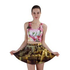 Singapore City Urban Skyline Mini Skirt