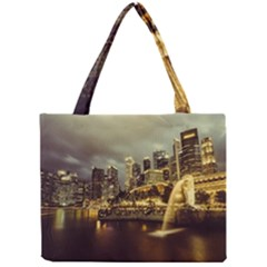Singapore City Urban Skyline Mini Tote Bag