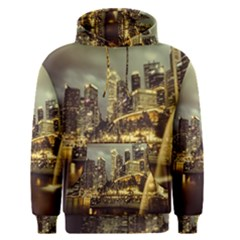 Singapore City Urban Skyline Men s Pullover Hoodie