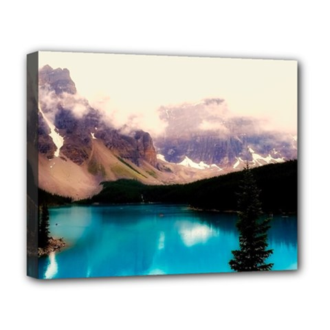 Austria Mountains Lake Water Deluxe Canvas 20  X 16