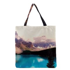 Austria Mountains Lake Water Grocery Tote Bag by BangZart