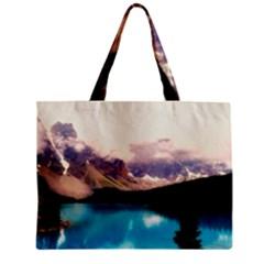 Austria Mountains Lake Water Zipper Mini Tote Bag by BangZart