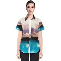 Austria Mountains Lake Water Women s Short Sleeve Shirt