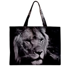 Africa Lion Male Closeup Macro Zipper Mini Tote Bag by BangZart