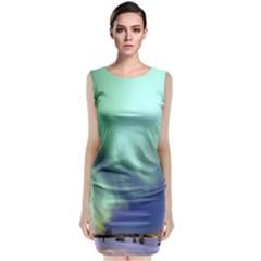 Aurora Borealis Alaska Space Classic Sleeveless Midi Dress