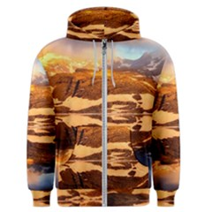France Snow Winter Sunrise Fog Men s Zipper Hoodie by BangZart