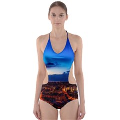 The Hague Netherlands City Urban Cut Out One Piece Swimsuit
