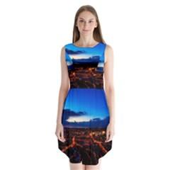 The Hague Netherlands City Urban Sleeveless Chiffon Dress