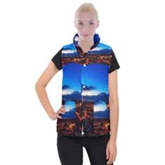 The Hague Netherlands City Urban Women s Button Up Puffer Vest