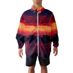 New York City Urban Skyline Harbor Wind Breaker (kids)