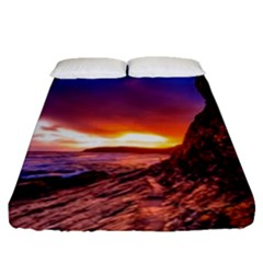 South Africa Sea Ocean Hdr Sky Fitted Sheet (queen Size)