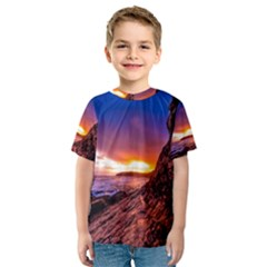 South Africa Sea Ocean Hdr Sky Kids  Sport Mesh Tee
