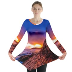 South Africa Sea Ocean Hdr Sky Long Sleeve Tunic