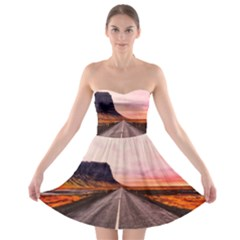 Iceland Sky Clouds Sunset Strapless Bra Top Dress
