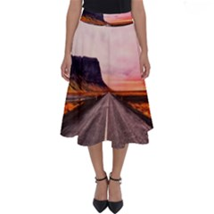 Iceland Sky Clouds Sunset Perfect Length Midi Skirt