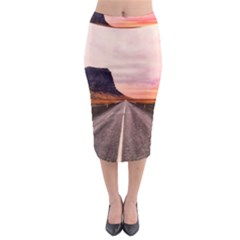 Iceland Sky Clouds Sunset Midi Pencil Skirt