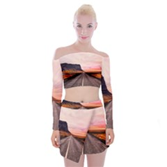 Iceland Sky Clouds Sunset Off Shoulder Top With Mini Skirt Set