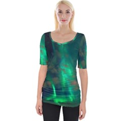 Northern Lights Plasma Sky Wide Neckline Tee