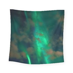 Northern Lights Plasma Sky Square Tapestry (small)