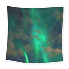 Northern Lights Plasma Sky Square Tapestry (large)