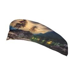 Sunset Dusk Sky Clouds Lightning Stretchable Headband
