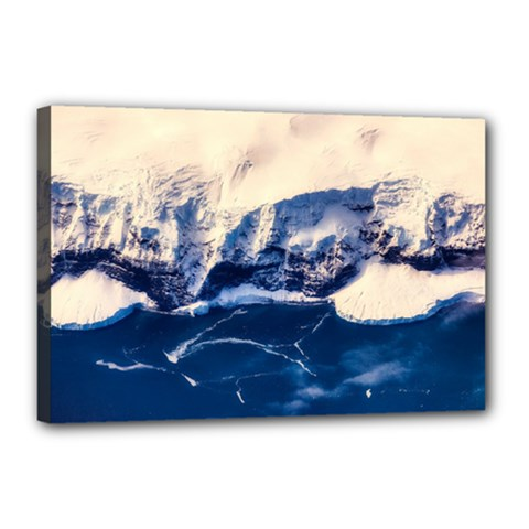 Antarctica Mountains Sunrise Snow Canvas 18  X 12