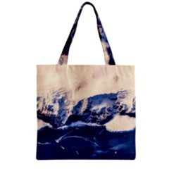 Antarctica Mountains Sunrise Snow Grocery Tote Bag