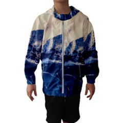 Antarctica Mountains Sunrise Snow Hooded Wind Breaker (kids)