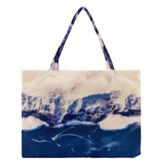 Antarctica Mountains Sunrise Snow Medium Tote Bag