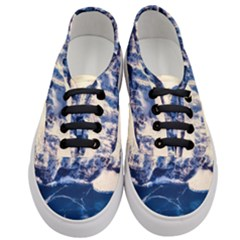 Antarctica Mountains Sunrise Snow Women s Classic Low Top Sneakers