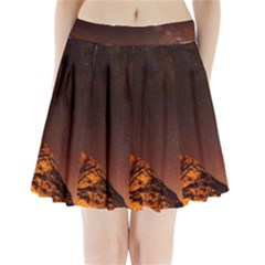 Italy Night Evening Stars Pleated Mini Skirt