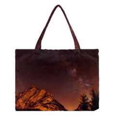 Italy Night Evening Stars Medium Tote Bag by BangZart