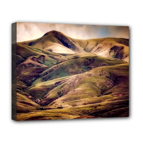 Iceland Mountains Sky Clouds Deluxe Canvas 20  X 16   by BangZart