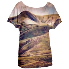 Iceland Mountains Sky Clouds Women s Oversized Tee
