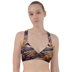 Iceland Mountains Sky Clouds Sweetheart Sports Bra