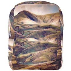 Iceland Mountains Sky Clouds Full Print Backpack