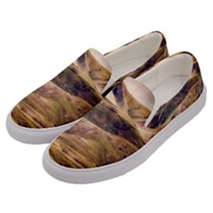 Iceland Mountains Sky Clouds Men s Canvas Slip Ons by BangZart