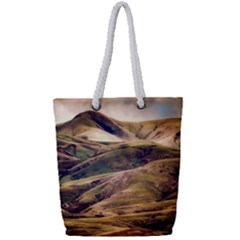 Iceland Mountains Sky Clouds Full Print Rope Handle Tote (small)