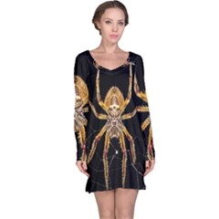 Insect Macro Spider Colombia Long Sleeve Nightdress
