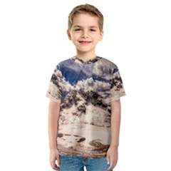 Italy Landscape Mountains Winter Kids  Sport Mesh Tee