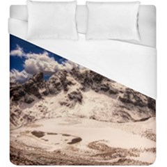 Italy Landscape Mountains Winter Duvet Cover (king Size)