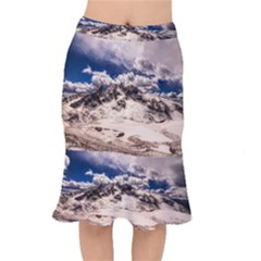 Italy Landscape Mountains Winter Mermaid Skirt