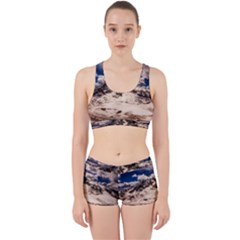 Italy Landscape Mountains Winter Work It Out Sports Bra Set