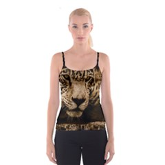 Jaguar Water Stalking Eyes Spaghetti Strap Top