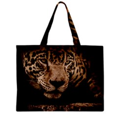 Jaguar Water Stalking Eyes Zipper Mini Tote Bag
