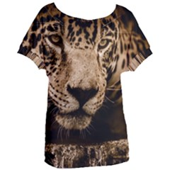 Jaguar Water Stalking Eyes Women s Oversized Tee