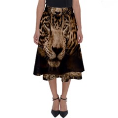 Jaguar Water Stalking Eyes Perfect Length Midi Skirt